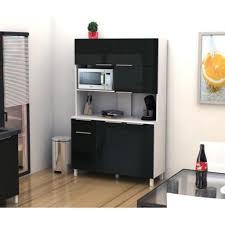 buffet de cuisine noir lova buffet de cuisine 120 cm noir haute brillance achat vente