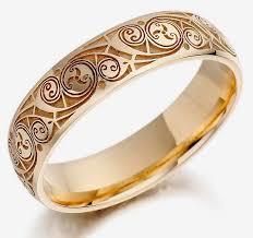 men hand rings images Mens hand engraved wedding rings gold design jpg