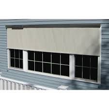 bali essentials charcoal vinyl exterior solar shade solar powered
