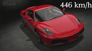 top speed f430 gran turismo 6 f430 2006 446 km h top speed