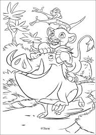 simba timon pumbaa play coloring pages hellokids