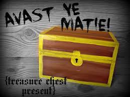 treasure chest from recipe box a and a glue gun