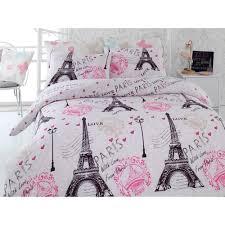 Eiffel Tower Comforter Paris Eiffel Tower Pink Twin Queen Bedding Duvet Cover Set
