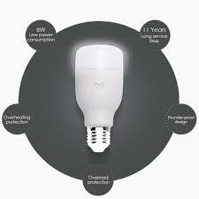 original xiaomi mi yeelight e27 8w white led smart light bulb