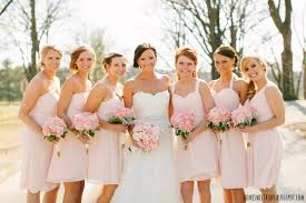 bill levkoff chiffon bridesmaids dresses each a different style