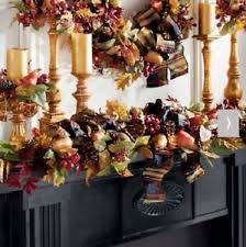 harvest fruits of fall mantle garland autumn indoor thanksgiving
