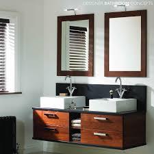 mereway oakland designer wall hung double basin bathroom vanity unit