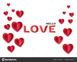valentines day greeting card layout vector template illustration