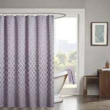 Gray And Brown Shower Curtain - purple shower curtains you u0027ll love wayfair