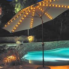 Patio Umbrellas With Led Lights Mesmerizing Lighted Umbrella For Patio Awesome With Led Lights
