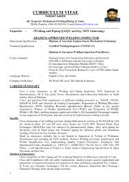 Ndt Technician Resume Example by Wonderful Quality Inspector Resume 16 Resume Precision Resume