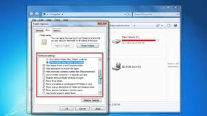 Windows 7 Bar At Top Of Screen How To Adjust Folder Settings In Windows 7 Youtube