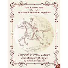 paul revere s ride book paul revere s ride by henry wadsworth longfellow excerpt copywork