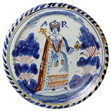 modern kitchen plates english delftware pottery blue dash royalty portrait charger of