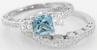 aquamarine wedding rings engagement rings