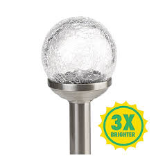 wilson and fisher solar lights wilson fisher grab go crackle glass orb stainless steel finish