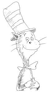 cat hat coloring pages print coloring