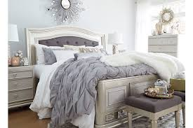 Silver Queen Bed Coralayne Queen Panel Bed Ashley Furniture Homestore