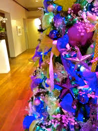 purple and lime christmas trees hotel christmas trees christmas