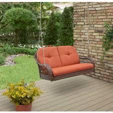 better homes and garden azalea ridge 2 person outdoor porch swing