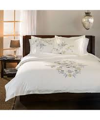 Cynthia Rowley Duvet Cover Impressions 100 Cotton Hyacinth Embroidered Duvet Cover Set
