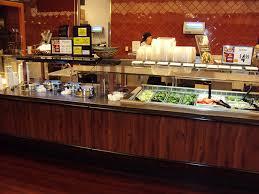 round table salad bar custom built cold bars
