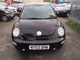 vw beetle 1 9 diesel manual tdi 2003 black service history air con