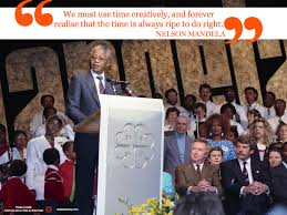 nelson mandela day education rally speech prison biography quotes
