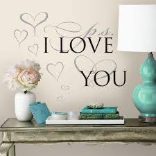 5 in x 11 5 in ps i love you 8 piece peel and stick wall decal ps i love you 8 piece peel and stick wall decal rmk3283scs the home depot