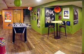 Basement Game Rooms Inspiring Green Basement Game Room Paired With Decorative Round