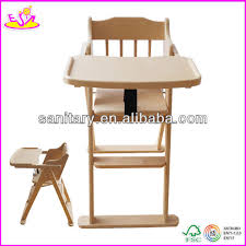 Wooden Doll High Chair High Quality Restaurant Baby High Chair For Kids Wooden Toy High