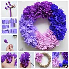 crepe paper flowers how to make an ombre crepe paper flower wreath pictures photos