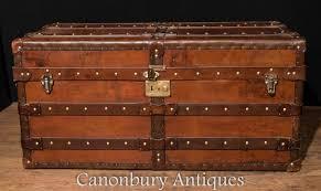 beautiful travel trunks antique leather trunk ebay