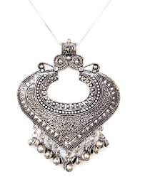 necklace silver india images Sansar india oxidised silver plated valentine heart jpg