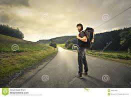 going away with a rucksack stock photo image of rucksack
