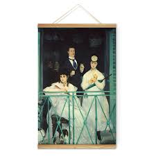 impressionism manet balcony figure decoration wall picture