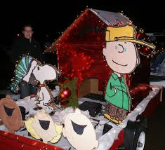 charlie brown christmas lights peanuts filled floats featured in madison s charlie brown christmas