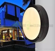 Waterproof Bathroom Spotlights 2017 New Modern Round Flat Led Light Outside Porch Lights