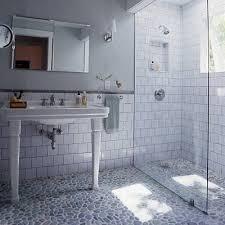 Subway Tile Bathroom Floor Ideas Pebble Shower Floor Design Ideas
