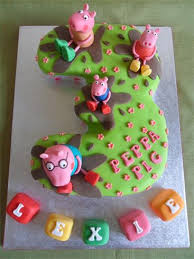 peppa pig cakes dawns custom cakes number cakes