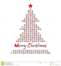modern christmas modern christmas tree card with noughts and crosses illustration