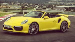 2016 porsche 911 turbo cabriolet racing yellow throttle