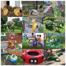 Backyard Decor Pinterest Creative Ideas Diy Lovely Frog Garden Decor From Old Tires