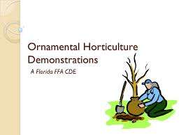 ornamental horticulture demonstrations ppt