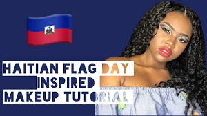 Haitian Flag Meaning Haitian Flag Day Inspired Makeup Tutorial Youtube