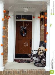 halloween front door decorations stock photo image 62122083