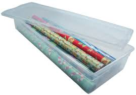 plastic gift wrap storage box
