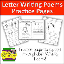 letter and number writing poems simply kinder