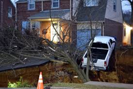 New York Sinkhole Map by Sinkhole Swallows Yards Threatens Pickup In Philly Suburb
