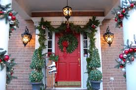backyards creative front door christmas decorations office doors